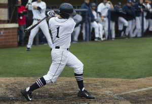 FILE PHOTO: ALEXANDER BROWN/THE HOYA Senior shortstop Ryan Busch went 4-for-4 with two home runs in Georgetown's series finale against Stony Brook. The Hoyas won Sunday's game 10-1, though they fell in both games of the doubleheader on Saturday.