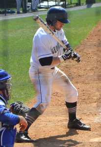 FILE PHOTO: MICHELLE XU/THE HOYA Sophomore center fielder Beau Hall  hit a home run against Villanova.