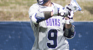 FILE PHOTO: CLAIRE SOISSON/THE HOYA Senior attack Reilly O'Connor will look to continue his dominant offensive performances when Georgetown faces Virginia this Saturday.