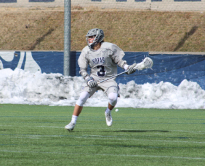 FILE PHOTO: ERIN NAPIER/THE HOYA Freshman attack Stephen Quinzi had two goals and one assist in Georgetown's 9-6 victory over Providence on Saturday. Quinzi has started all 11 games for the Hoyas, and he has 14 goals and six assists so far this season.
