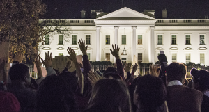 FILE PHOTO: MICHELLE XU/THE HOYA People from across the District marched to the White House after the Ferguson grand jury decision in November.