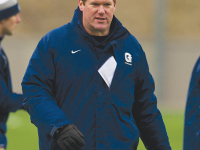COURTESY GEORGETOWN SPORTS INFORMATION Head Coach Kevin Warne led the Hoyas to 10 wins.