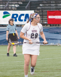 FILE PHOTO: CLAIRE SOISSON/THE HOYA Junior midfielder Kristen Bandos led the Hoyas with 29 goals in 2015.