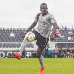 FILE PHOTO: JULIA HENNRIKUS/THE HOYA Sophomore center back Joshua Yaro was an All-American in 2014.