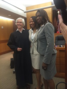 SUZANNE MONYAK/THE HOYA Petrina Bloodworth and Emma Foulkes were the first gay couple to get married in Fulton County, Georgia, two hours after the Supreme Court's decision was announced.