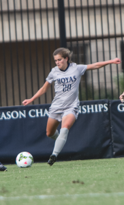 FILE PHOTO: JULIA HENNRIKUS/THE HOYA Sophomore midfielder Rachel Corboz will take on a larger role in her second season at Georgetown.