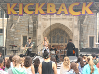 """FILE PHOTO: ISABEL BINAMIRA/THE HOYA Louisa Wendorff, most well-known for her cover of Taylor Swift's """"Blank Space,"""" performs on Copley Lawn at the second annual Kickback Music and Arts Festival, hosted by the Students of Georgetown, Inc. Sept. 12."""