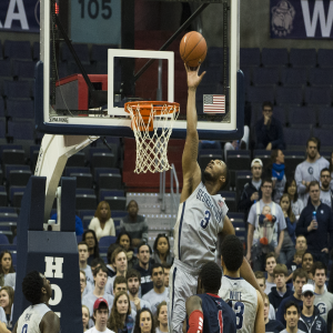 FILE PHOTO: MICHELLE XU/THE HOYA Former Georgetown forward Mikael Hopkins recently signed a professional contract with Istanbul DSI in Turkey. During his four seasons as a Hoya, Hopkins reocorded 629 points and 489 rebounds.