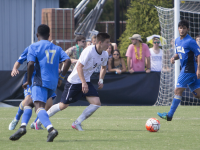 FILE PHOTO: ERICK CASTRO/THE HOYA Junior forward Alex Muyl scored two goals in Georgetown's 5-2 victory over Radford on Saturday at Shaw Field. Senior forward Brandon Allen also added two goals in the win.