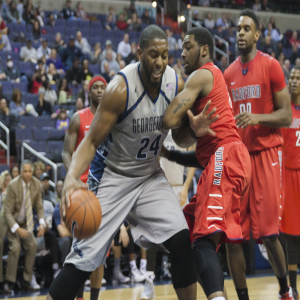 FILE PHOTO: MICHELLE XU/THE HOYA Former Georgetown center Joshua Smith, who recently signed with the Houston Rockets, averaged 10.8 points and 5.8 rebounds during his senior season in 2014-15 for the Hoyas.