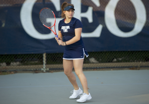 COURTESY GEORGETOWN SPORTS INFORMATION OFFICE Junior captain Victoire Saperstein will play first singles for the third straight year. Saperstein was selected to the All-Big East Team in both of her first two years.