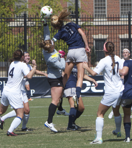 FILE PHOTO: CLAIRE SOISSON/THE HOYA Midfielder Marina Paul (5)