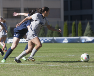 FILE PHOTO: JULIA HENNRIKUS/THE HOYA Forward Sarah Adams
