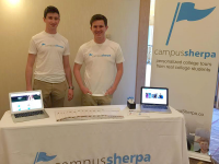 COURTESY ALEX MITCHELL David Patou (COL '18) and Alex Mitchell (COL '18) founded Campus Sherpa fall 2014. The company has spread to more than 60 college campuses and employs 400 part-time student tour guides.