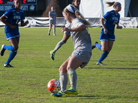 ELIZA MINEAUX/THE HOYA Senior forward Crystal Thomas assisted the Hoyas' only goal in their 1-1 tie against Big East rival DePaul. Thomas has scored five goals and has assisted four others this season.