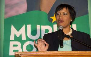 """FILE PHOTO: NATASHA THOMSON/THE HOYA Mayor Muriel Bowser's """"500 for 500: Mentoring Through Literacy"""" program, part of D.C. Public Schools' Empowering Males of Color Initiative, pledges to tutor young men of color. The Metropolitan Police Department and Howard University have already offered mentors for the program."""