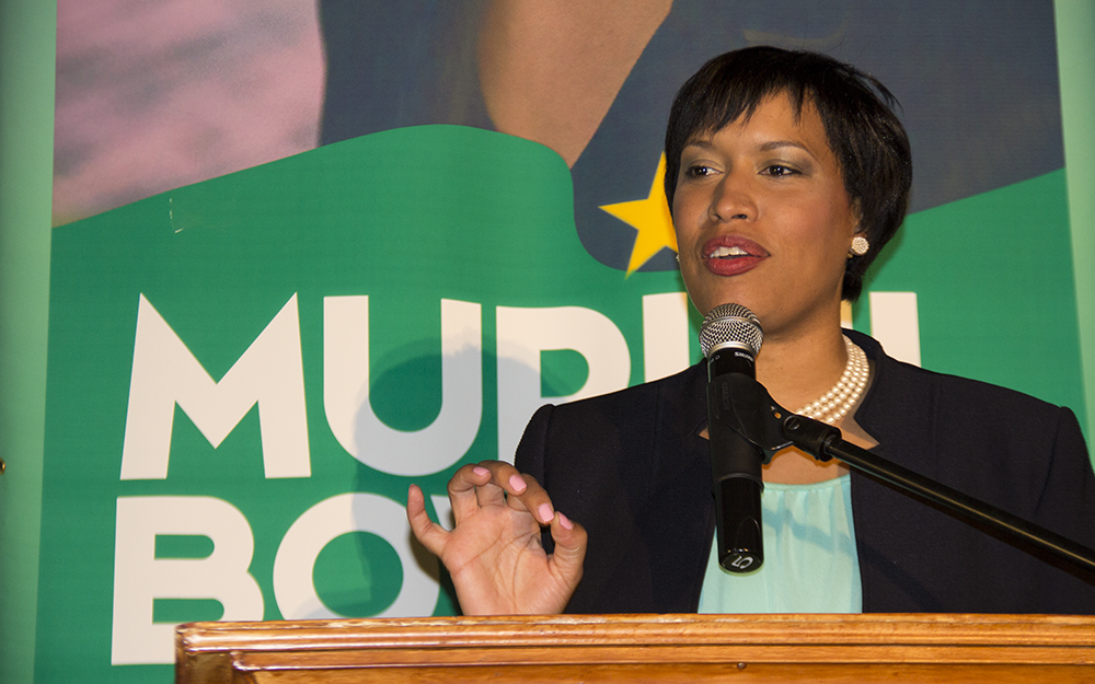 FILE PHOTO: NATASHA THOMPSON/THE HOYA D.C. Mayor Muriel Bowser (D) released a draft of a potential D.C. constitution, which will be finalized at a convention June 17 and 18 before a citywide vote in November.