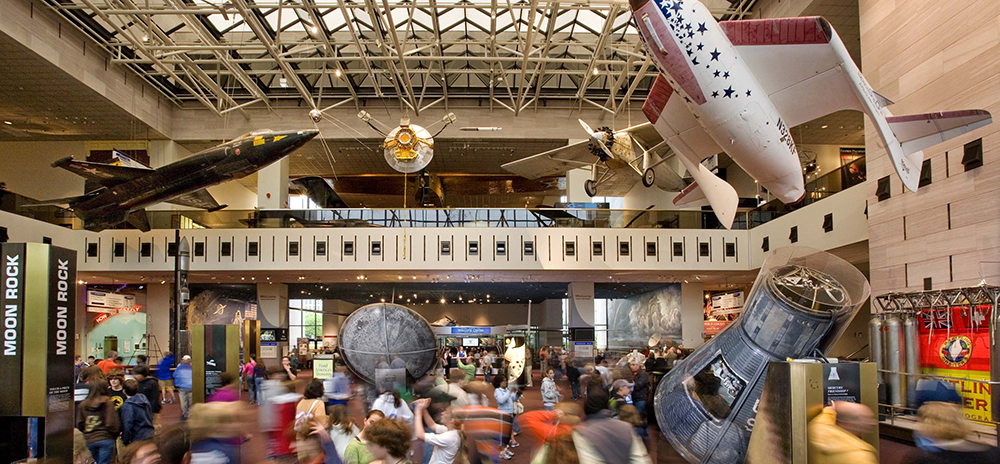 "COURTESY SMITHSONIAN INSTITUTE The ""Explainers,"" the National Air and Space Museum's cohort of student volunteers, will soon be supplemented with electronic programming following a recent grant awarded by General Electric Aviation."