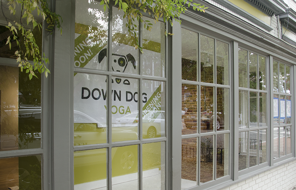 JOHN CURRAN FOR THE HOYA  Down Dog Yoga is set to open its fifth studio a half-mile from Georgetown University's front gates on Prospect Street in approximately two weeks.