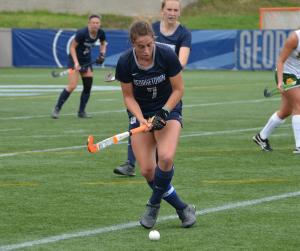 KARLA LEYJA FOR THE HOYA Senior midfielder Emily Weinberg led Georgetown with two shots in a 2-0 win over Siena last week. Georgetown outshot Siena 8-0 in the game.