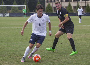 FILE PHOTO: NAAZ MODAN FOR THE HOYA Sophomore midfielder Christopher Lema was named to the Big East All-Rookie squad in his freshman season.  Lema has started in 9 out of 10 games and recorded two shots on goal thus far for Georgetown.