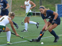 FILE PHOTO: KARLA LEYJA FOR THE HOYA Junior defender Devin Holmes is tied for the team lead with two assists this season. Holmes, who has played in all 47 games that her team has played during her three seasons, has also scored two goals on four shots in 2015.
