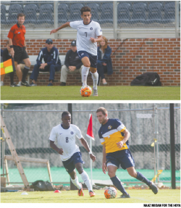 Sophomore midfielder Arun Basuljevic (above) and senior midfielder Melvin Snoh each scored goals in No. 10 Georgetown's 3-0 win over Big East rival Marquette on Wednesday.