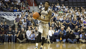 FILE PHOTO: CLAIRE SOISSON/THE HOYA Sophomore guard Tre Campbell chose to attend Georgetown to stay in his hometown.