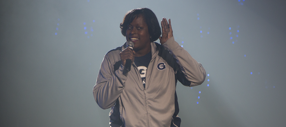 ISABEL BINAMIRA/THE HOYA Head Coach Natasha Adair enters her second season after becoming Georgetown's fourth head coach in four seasons last year.