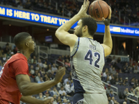 STANLEY DAI/the hoya Senior center and co-captain Bradley Hayes scored a career-high 19 points and grabbed a career-high 12 rebounds in Georgetown's loss to Radford.