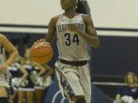 KARLA LEYJA/THE HOYA  Sophomore guard Dorothy Adomako scored a game-high 19 points and had six rebounds in Georgetown's 73-56 win over Virginia Tech.