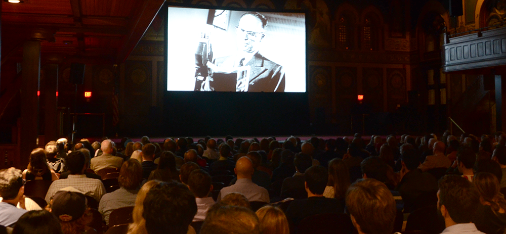 "KATHLEEN GUAN/THE HOYA Gaston Hall hosted a screening of ""Free to Rock"" this Tuesday, featuring a panel discussion on how rock 'n' roll shaped the Cold War-era USSR."