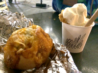 CASEY DOYLE FOR THE HOYA  Milk Bar, Momofuku's spinoff ice cream bar, now in D.C., has amassed a following with social media-friendly options, like the egg and cheddar bomb bun and cereal milk soft serve.