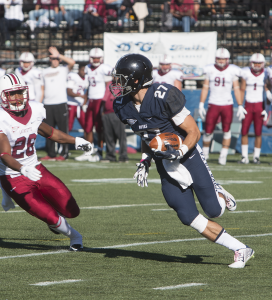 FILE PHOTO: KARLA LEYJA/THE HOYA Senior wide reciever Jake DeCicco recorded eight receptions and 86 yards in Georgetown's 38-31 loss to the Fordham Rams last Saturday.