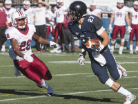 FILE PHOTO: KARLA LEYJA/THE HOYA Senior wide receiver Jake DeCicco recorded 10 receptions for 195 yards and a touchdown in Georgetown's 33-28 loss to Lehigh on Oct. 31.