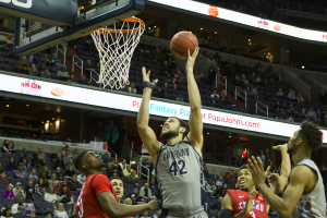 STANLEY DAI/THE HOYA Senior center and co-captain Bradley Hayes led Georgetown with 19 points and 12 rebounds in an 82-80 loss to Radford.