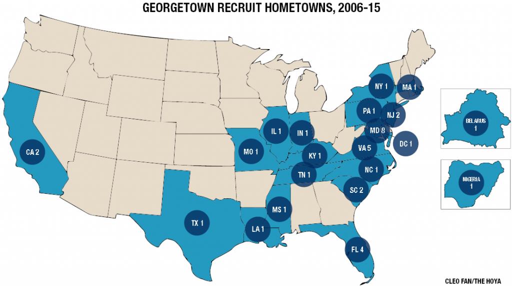 Recruiting map