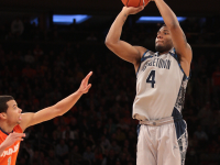 FILE PHOTO: CHRIS BIEN/THE HOYA Senior guard and co-captain D'Vauntes Smith-Rivera was the only current Georgetown player to play in the team's last game against Syracuse, which took place Mar. 15 in the Big East tournament in New York City.