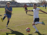 FILE PHOTO: KAYLA MINEAUX/THE HOYA Senior defender Keegan Rosenberry was drafted third overall in the MLS SuperDraft last Thursday by the Philadelphia Union. Rosenberry had two goals and six assists in his senior season at Georgetown, totallling 10 points.