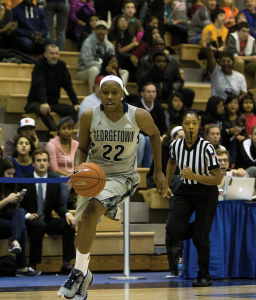 FILE PHOTO: karla leyja/the hoya Senior guard/forward Logan Battle scored 12 points and grabbed five rebounds in Georgetown's 57-51 win over Villanova.