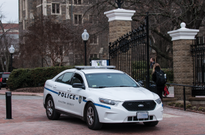NAAZ MODAN/THE HOYA A new bill introduced by D.C. Councilmember Kenyan McDuffle (D-Ward 5) would extend the jurisdiction of the Georgetown University Police Department beyond the front gates of campus.