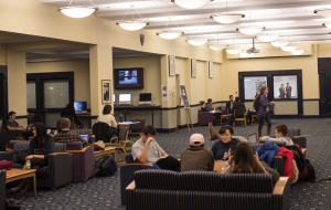 DANIEL KREYTAK/THE HOYA The Georgetown University Student Association and StartupHoyas will introduce a new indoor weekly marketplace for the unviersity community in Leavey Center this spring.
