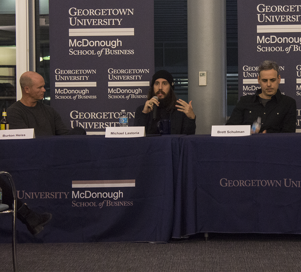 Ali Rehman The hoya  Leaders from  four D.C. restaurants sat on a panel in Fisher Colloquium on Wednesday  to share their experiences of working in the restaurant industry.