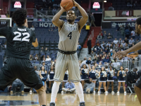 ISABEL BINAMIRA/THEHOYA Senior guard and co-captain D'Vauntes Smith-Rivera leads Georgetown in scoring with 16.3 points per game.