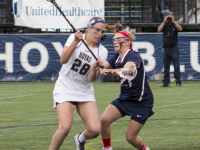 CLAIRE SOISSON/THE HOYA  Senior midfielder Kristen Bandos led Georgetown during the 2015 season in goals with 29 and shots with 73. She also tallied two assists.