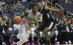 ISABEL BINAMIRA/THE HOYA Sophomore guard L.J. Peak led Georgetown with 19 points in the team's 73-69 loss to Providence. He averages 10.3 points per game.