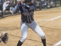 FILE PHOTO: JULIA HENNRIKUS/THE HOYA Senior infielder Grace Appelbe recorded a batting average of .237 during the 2015 season with 31 hits. She also marked 17 runs scored.