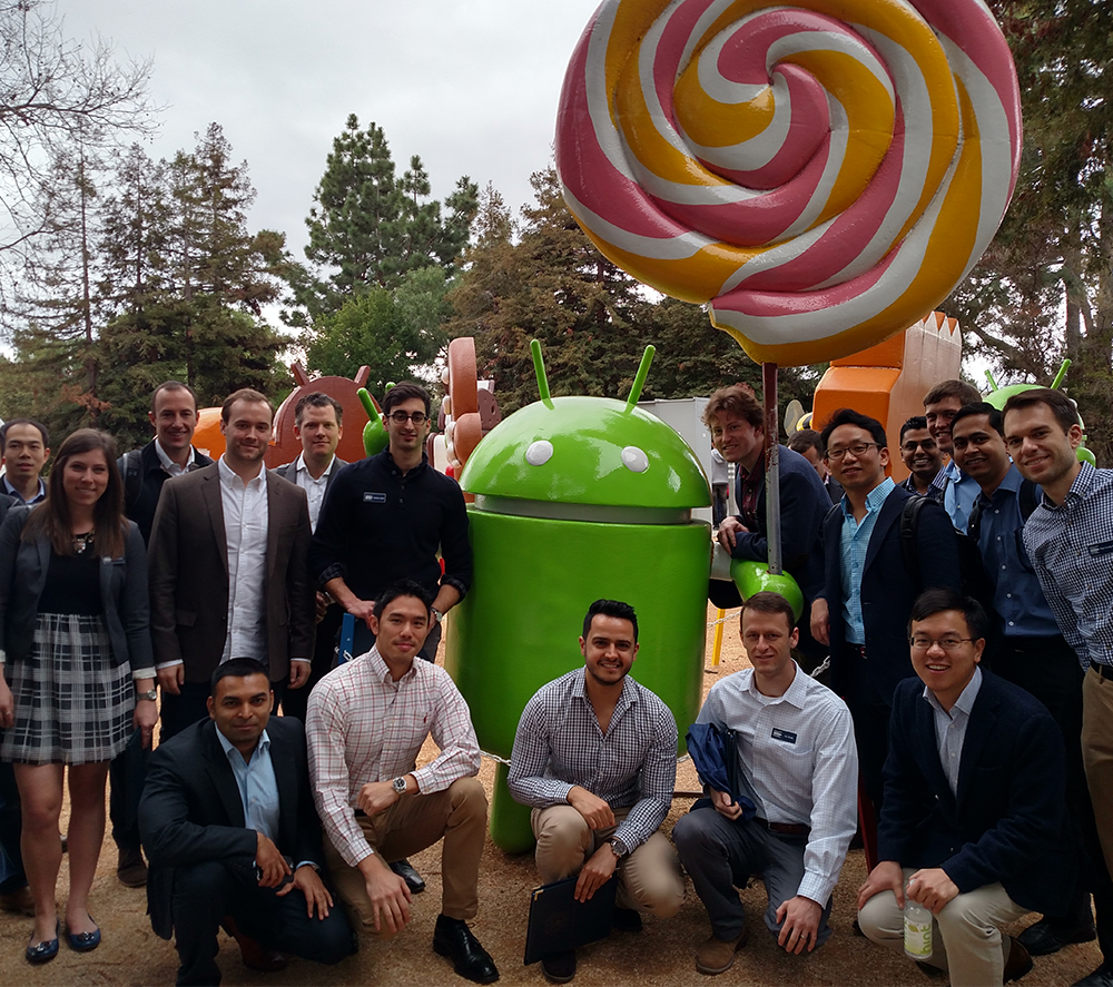 COURTESY CALIFORNIA BUSINESS ALLIANCE Thirty-seven MBA students travelled to Silicon Valley and the San Francisco Bay Area in January on the CBA's annual CalTrek.