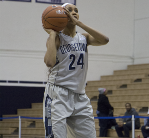 CLAIRE SOISSON/THE HOYA Junior forward Faith Woodard tied a team-high total of 19 points against Marquette. Woodard averages 9.9 points per game.