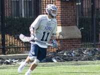 FILE PHOTO: CLAIRE SOISSON/THE HOYA Sophomore midfielder Craig Berge scored 16 goals and had 21 assists during the 2015 season. This week, Berge was named to the Tewaaraton Award Watch List for 2016.